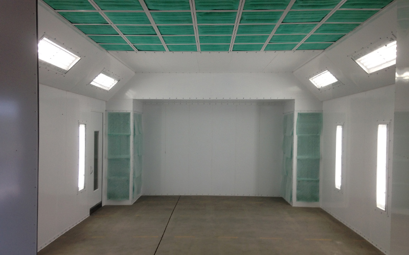 Spray Booth Interior